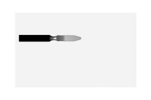 Электрод-лопатка удл моно 2.5х0.4 мм штекер 2.4мм