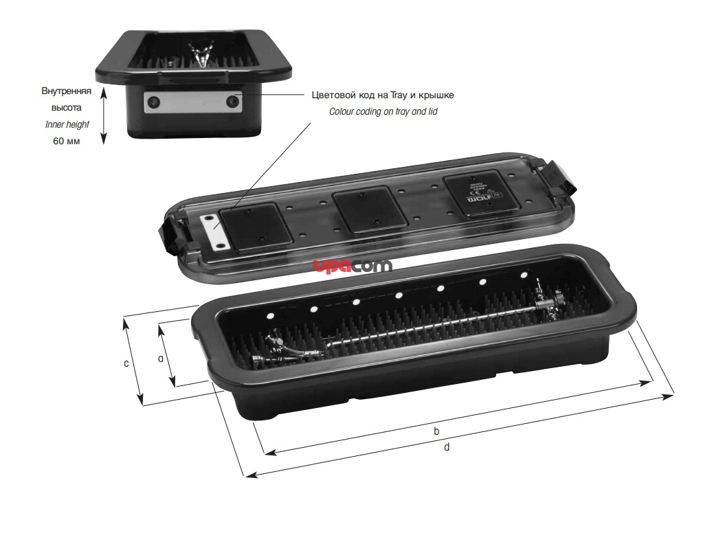 Контейнер пластмассовый Richard Wolf RIWO-System-Tray,длина 700 мм