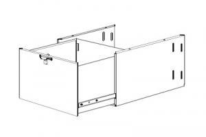 Выдвижной ящик, запирающийся, глубокий,«MAJ-194», узкий, для WM-NP1