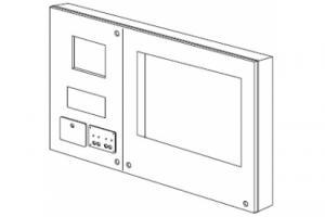 Панель для технического обслуживания, для WECB0012 и WECB0004, с подставкой для клавиатуры, отделением для хранения и коммутационной панелью с аварийным выключателем