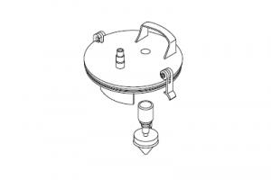 Крышка, для аспирационного сосуда, система многоразового использования