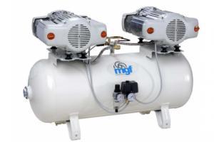 100/30 TANDEM PRIME S - безмасляный компрессор без осушителя, 100л, 340л/мин, PR-OF400-100