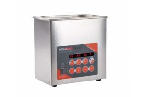 SONICA 2200EP S3 - ультразвуковая мойка с подогревом, функцией вакуумирования и краном для слива жидкости, 3 л
