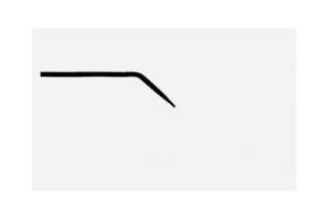 Электрод тупой изогнутый моно штекер 2.4мм