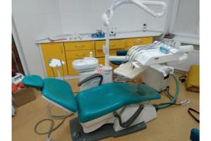 Premier 11 - стоматологическая установка сине - зеленая б/у